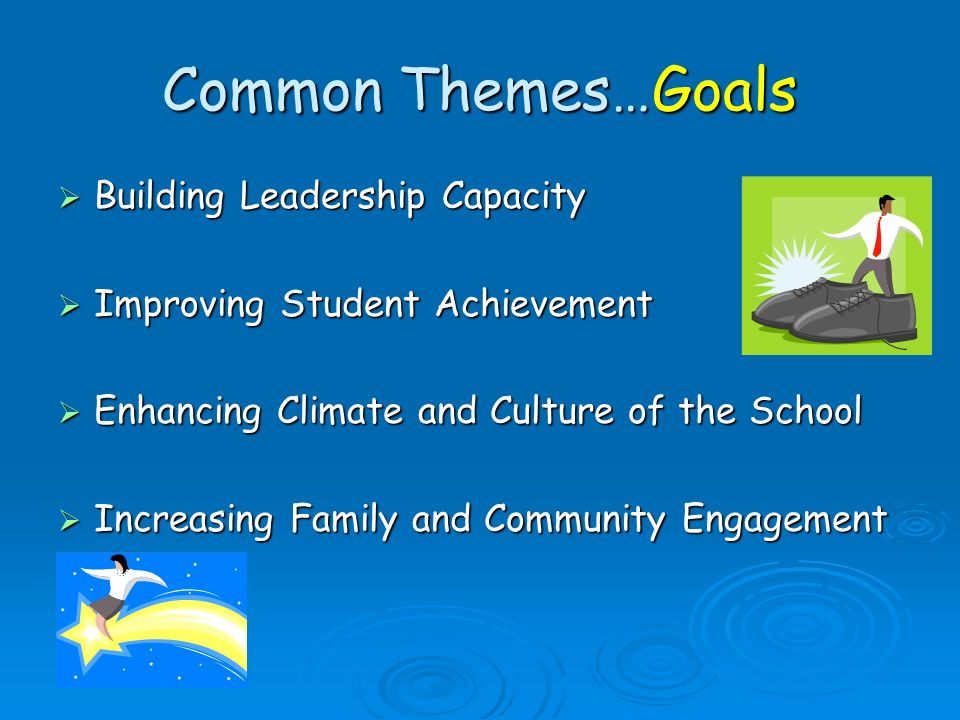 Common Themes…Goals Building Leadership Capacity