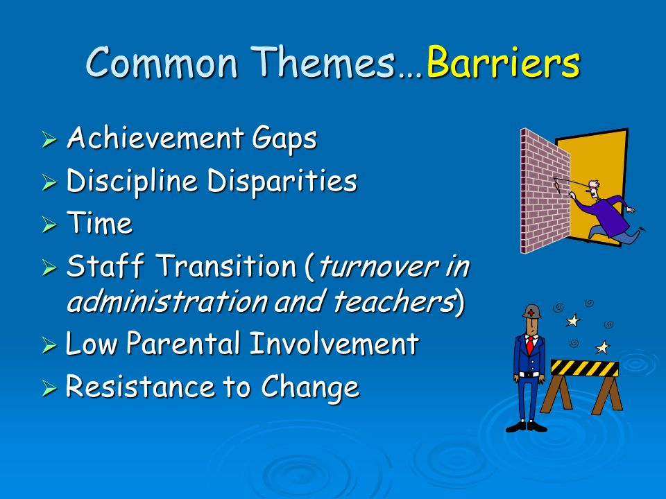 Common Themes…Barriers