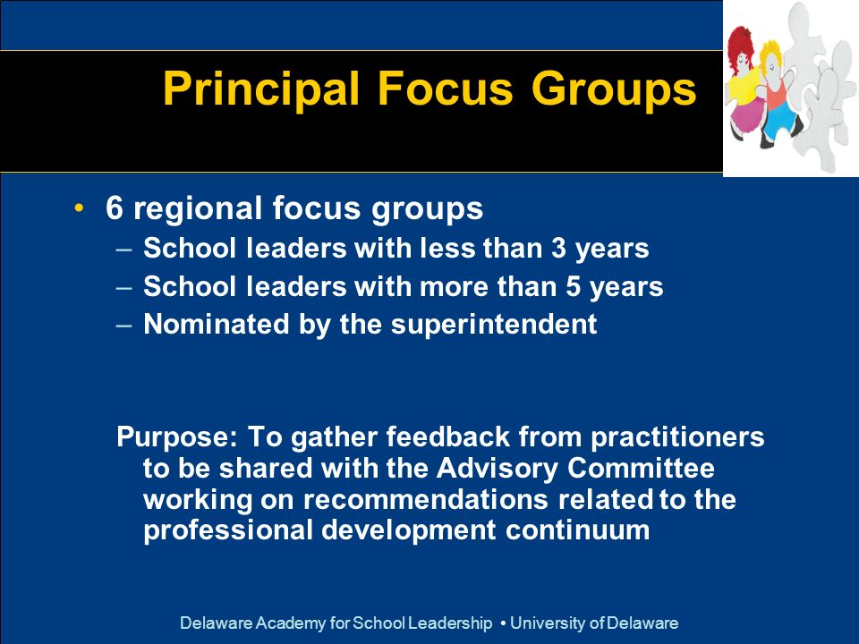 Principal Focus Groups