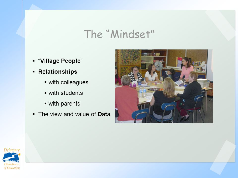 The Mindset Village People Relationships with colleagues