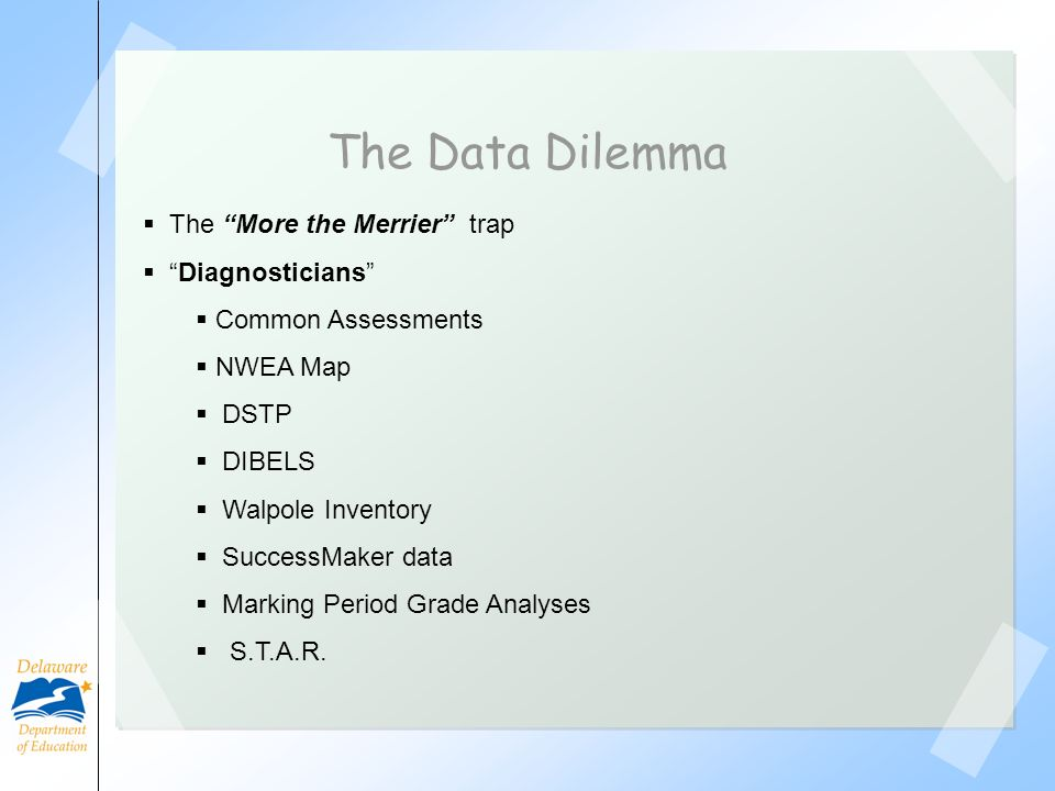 The Data Dilemma The More the Merrier trap Diagnosticians