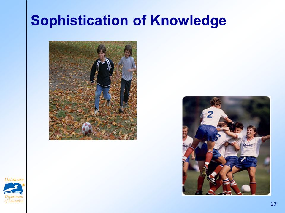 Sophistication of Knowledge