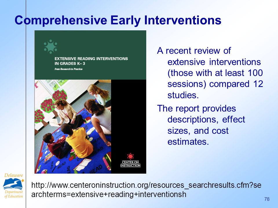 Comprehensive Early Interventions