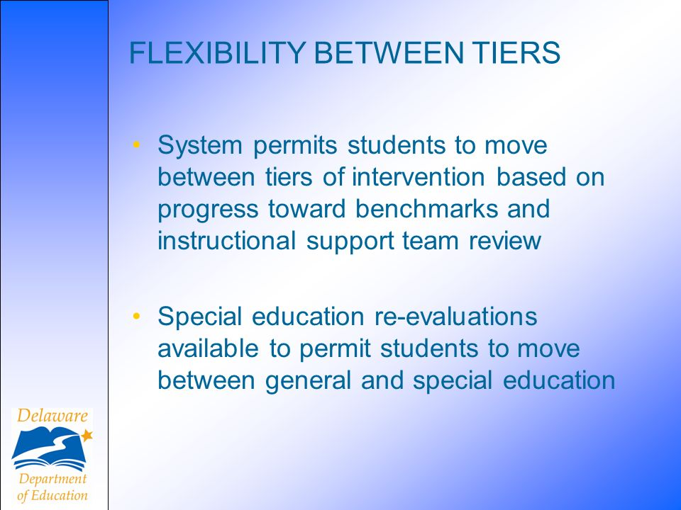 FLEXIBILITY BETWEEN TIERS