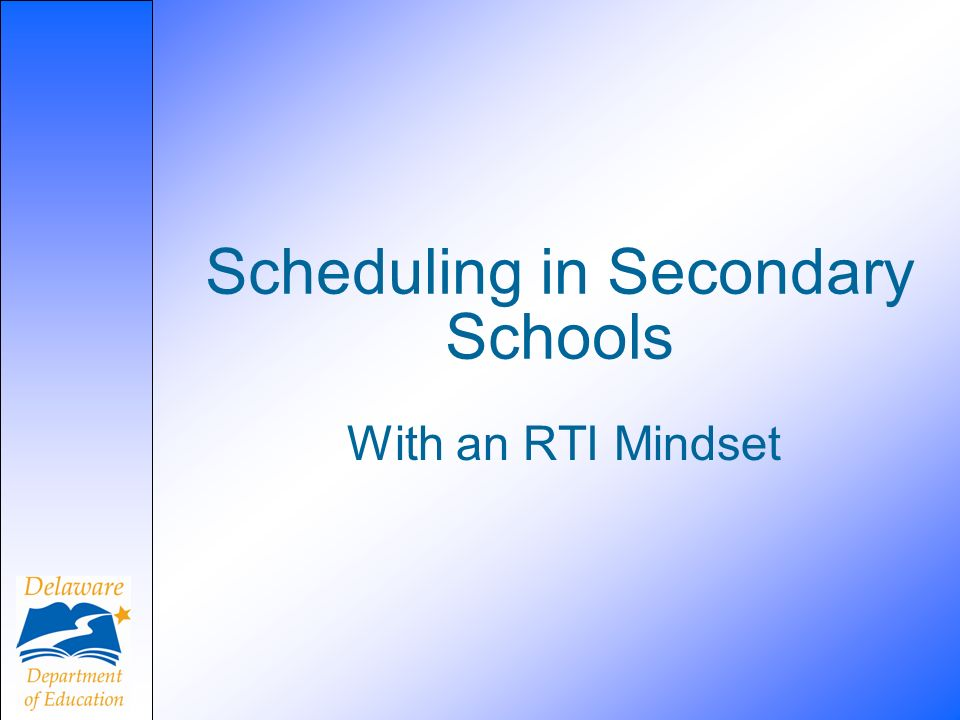 Scheduling in Secondary Schools
