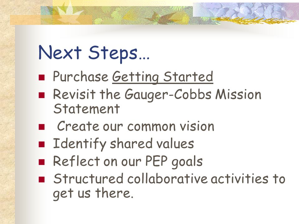 Next Steps… Purchase Getting Started