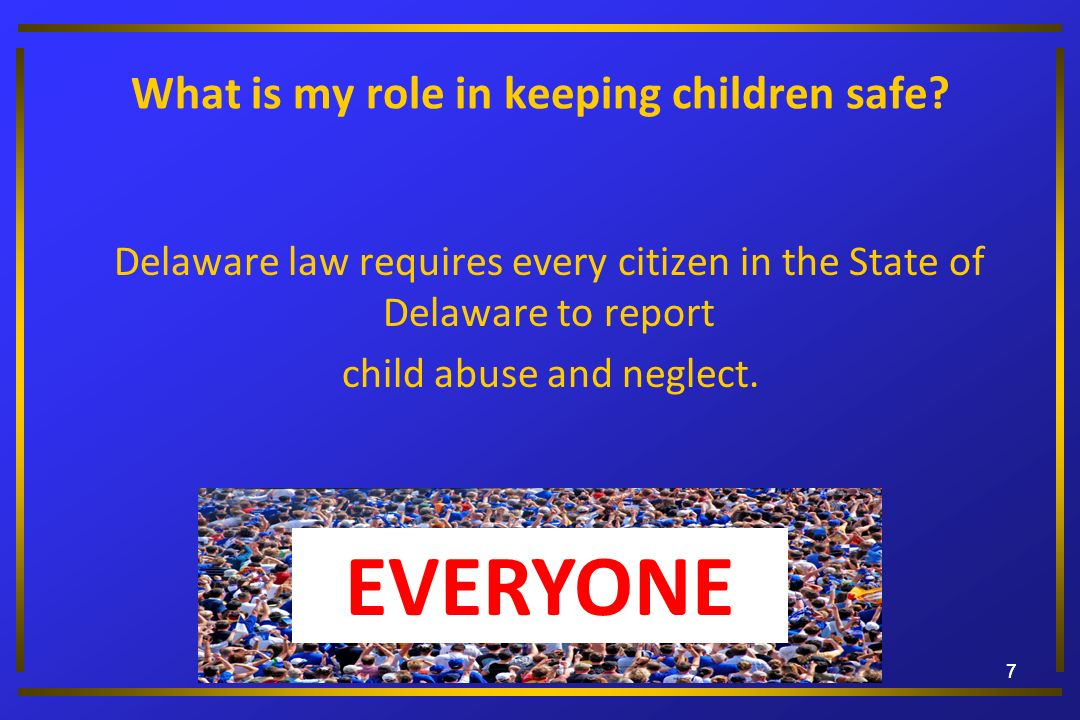 What is my role in keeping children safe
