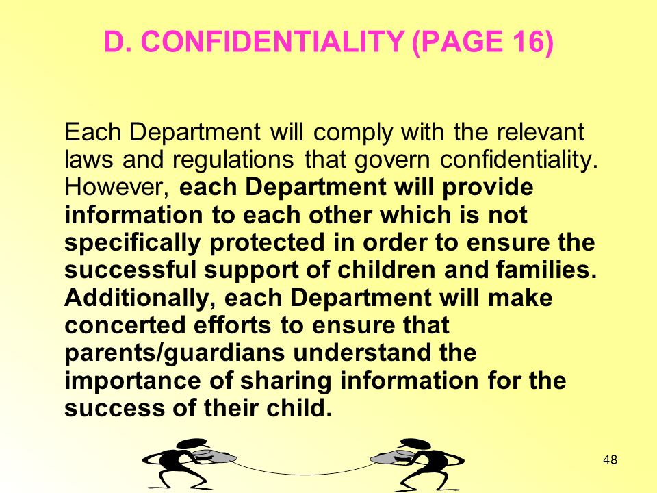 D. CONFIDENTIALITY (PAGE 16)