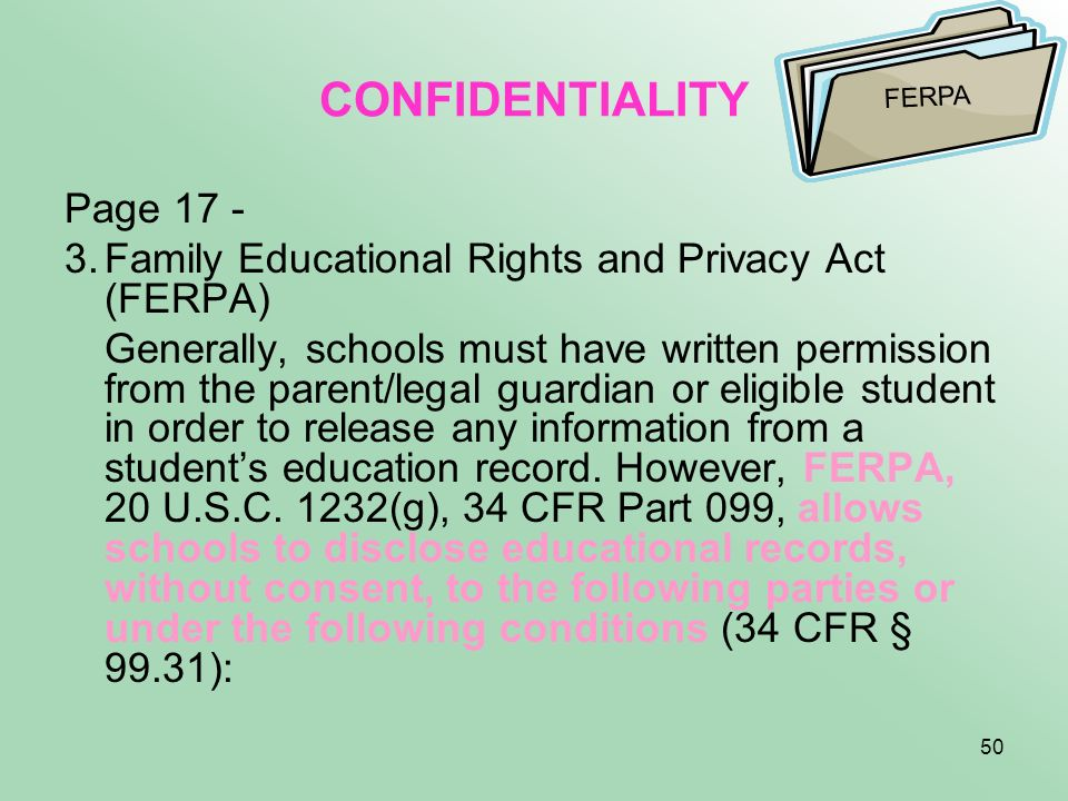CONFIDENTIALITY Page 17 -