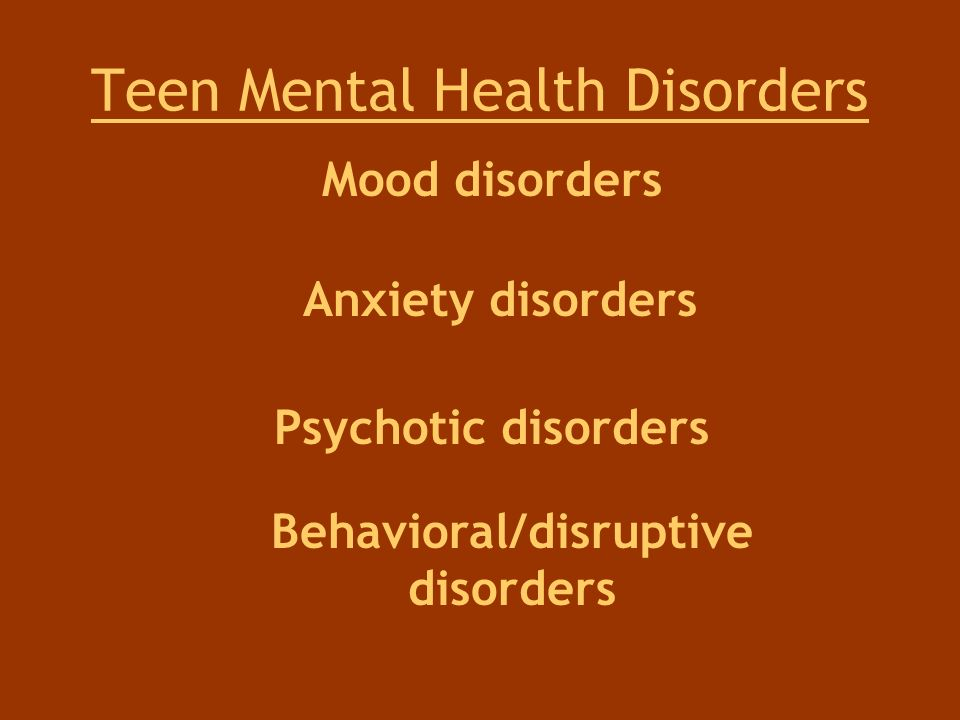 Teen Mental Health Disorders