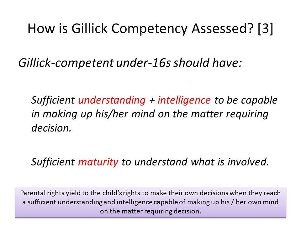 fraser guidelines gillick competence safeguarding sean botham ppt