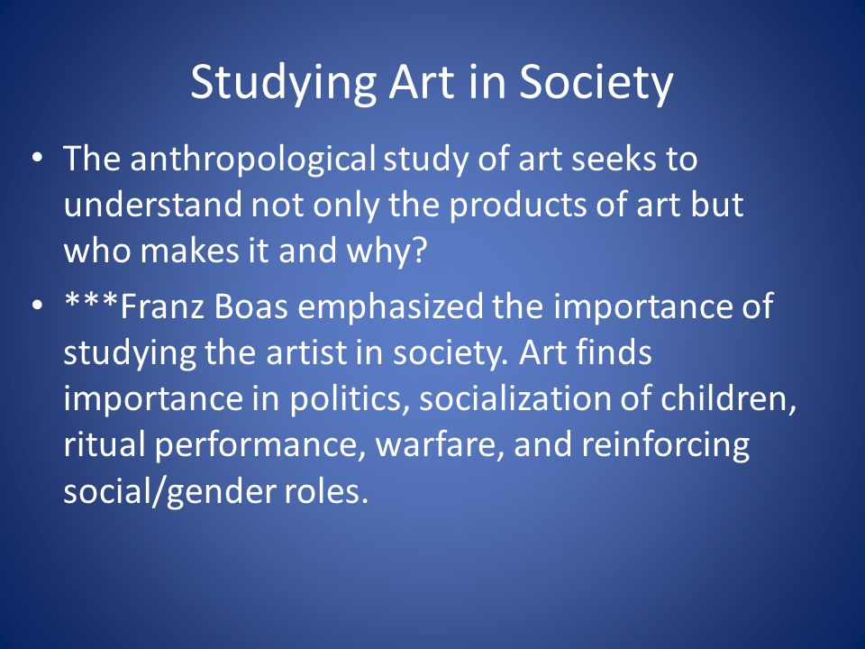 importance of art to the society