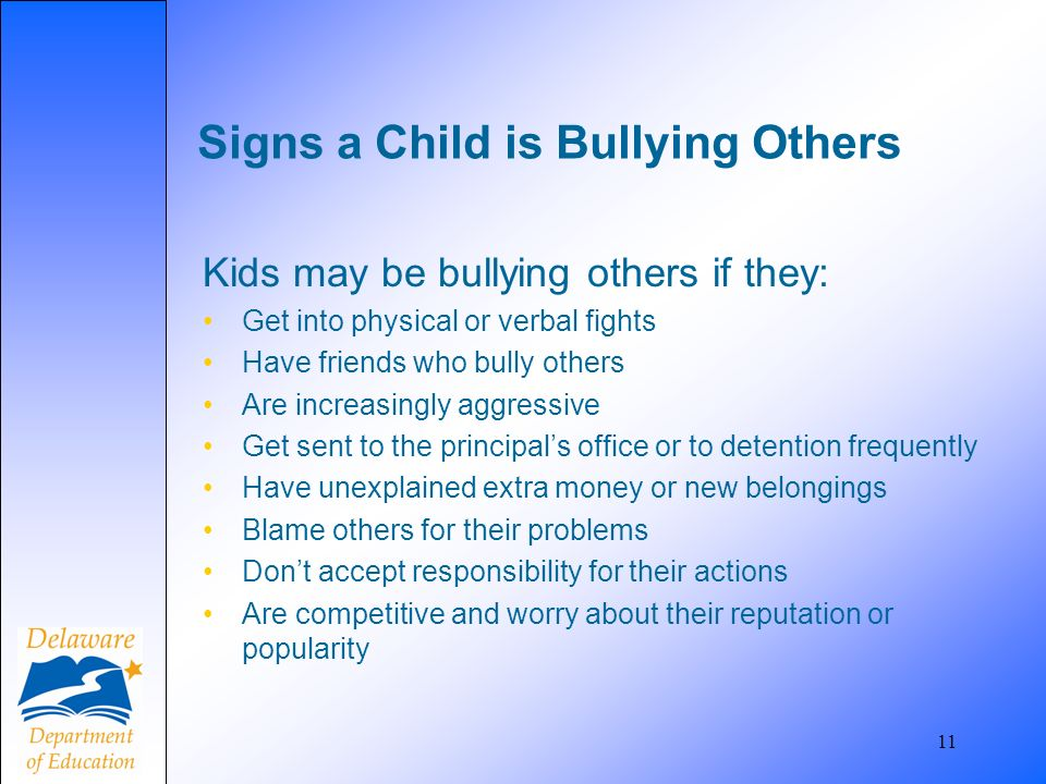Signs a Child is Bullying Others
