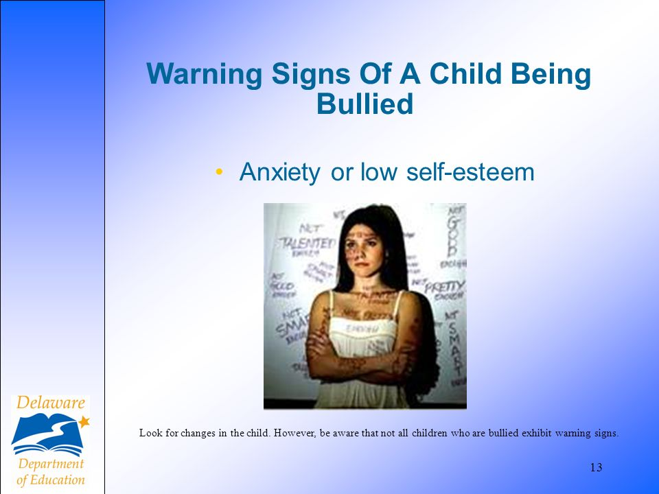 Warning Signs Of A Child Being Bullied