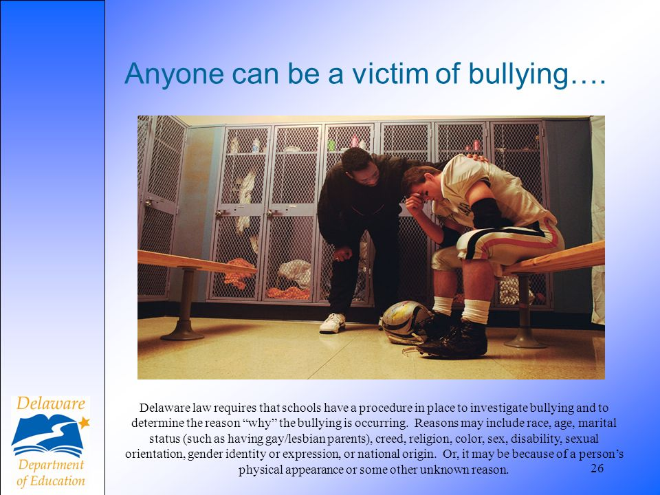 Anyone can be a victim of bullying….