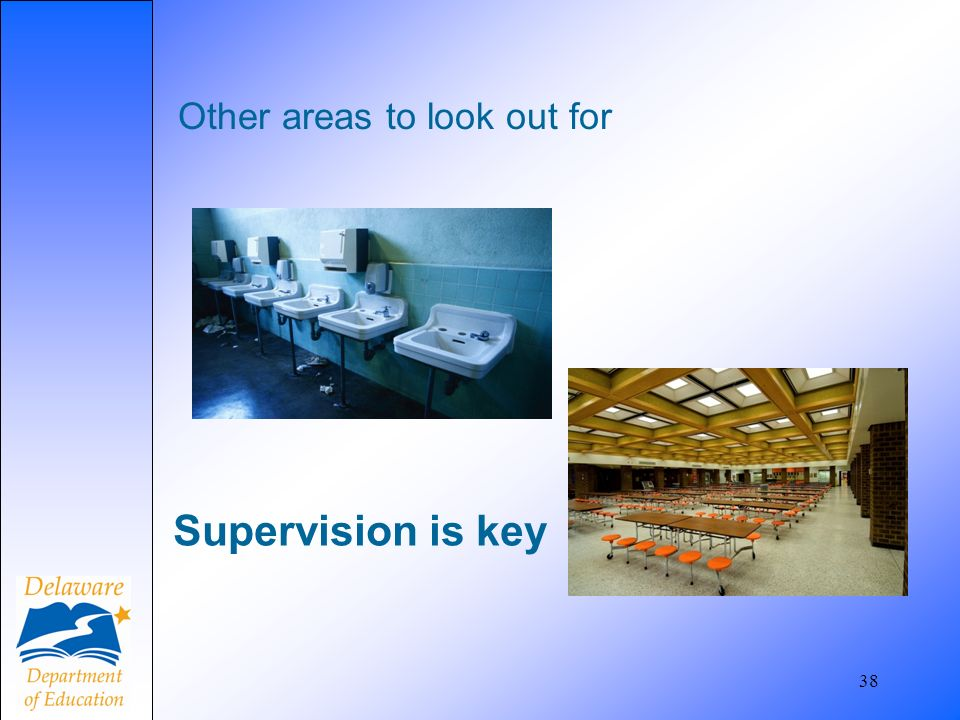 Supervision is key Other areas to look out for And bathrooms.