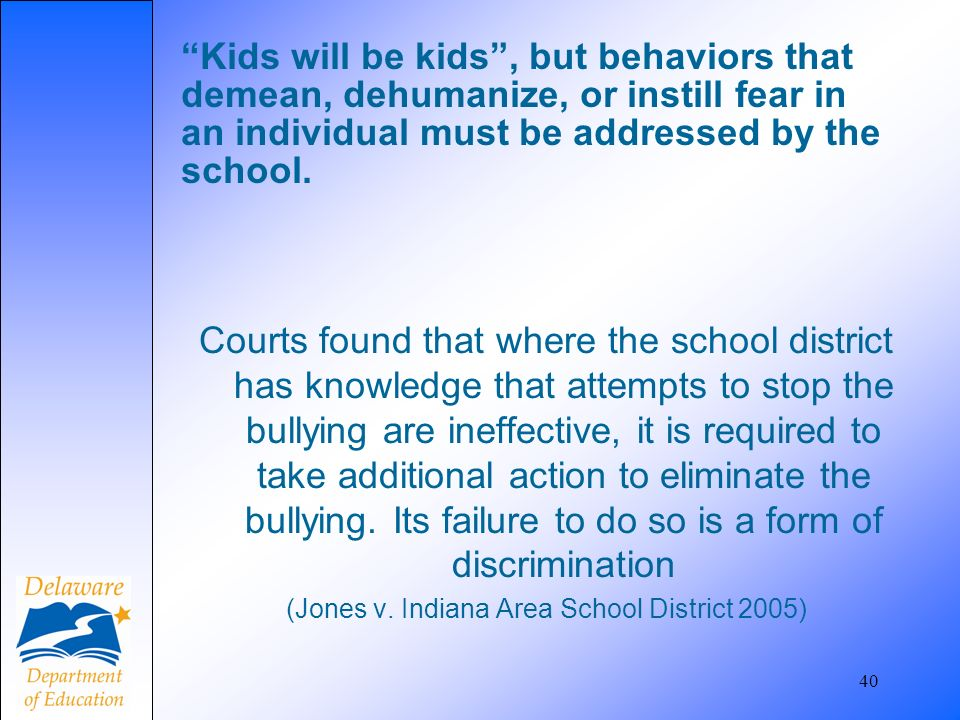(Jones v. Indiana Area School District 2005)