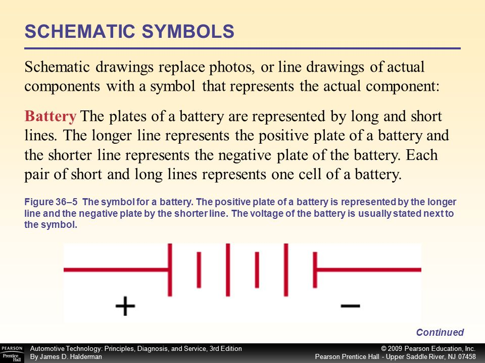 Schematic Symbols Battery Short Line Auto Electrical Wiring Diagram