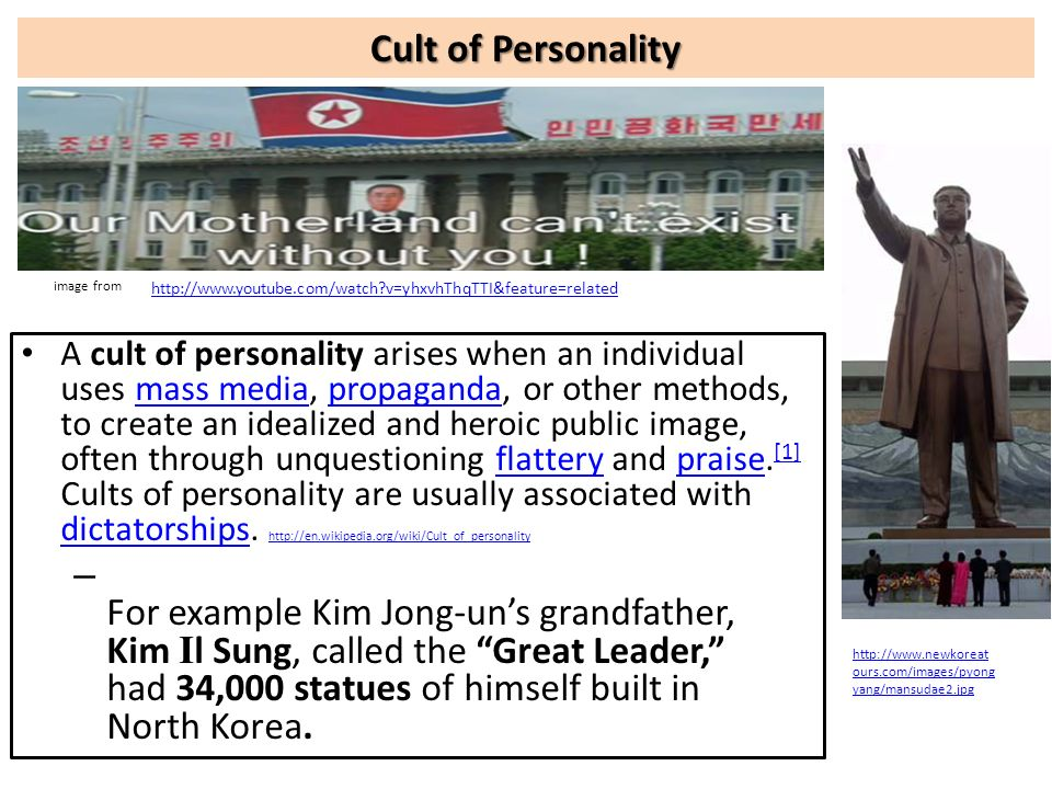 Cult of Personality image from. http://www.youtube.com/watch v=yhxvhThqTTI&feature=related.