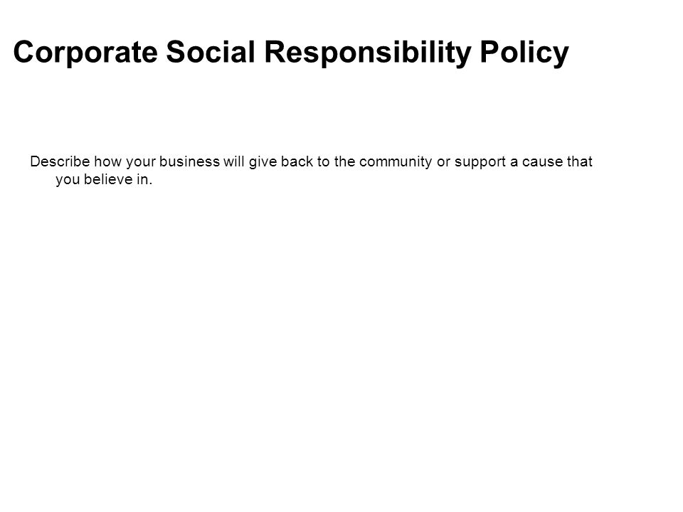 The nfte business plan template ppt video online download 17 corporate social responsibility policy flashek Images