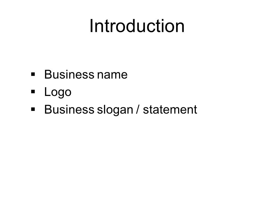 The nfte business plan template ppt video online download the nfte business plan template 2 introduction business name logo business slogan statement wajeb Images