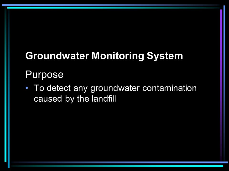 Groundwater Monitoring System