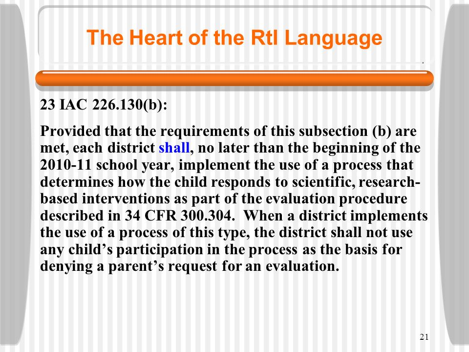 The Heart of the RtI Language