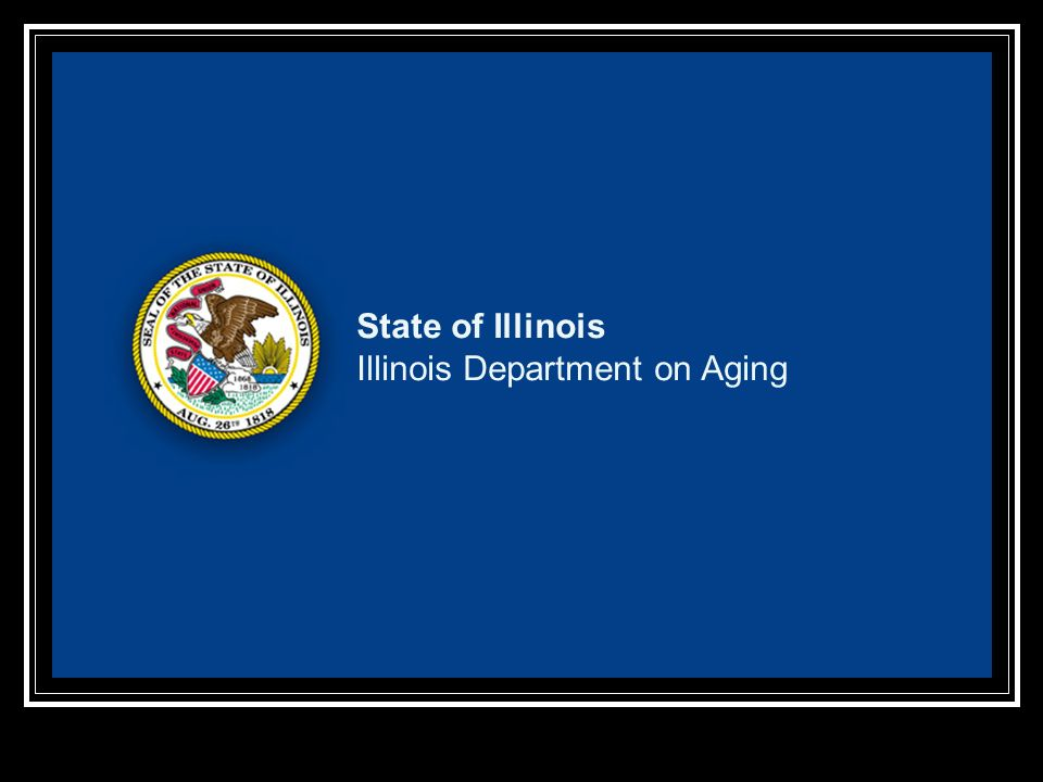 State Of Illinois Illinois Department On Aging Ppt Download