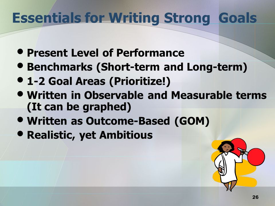 Essentials for Writing Strong Goals