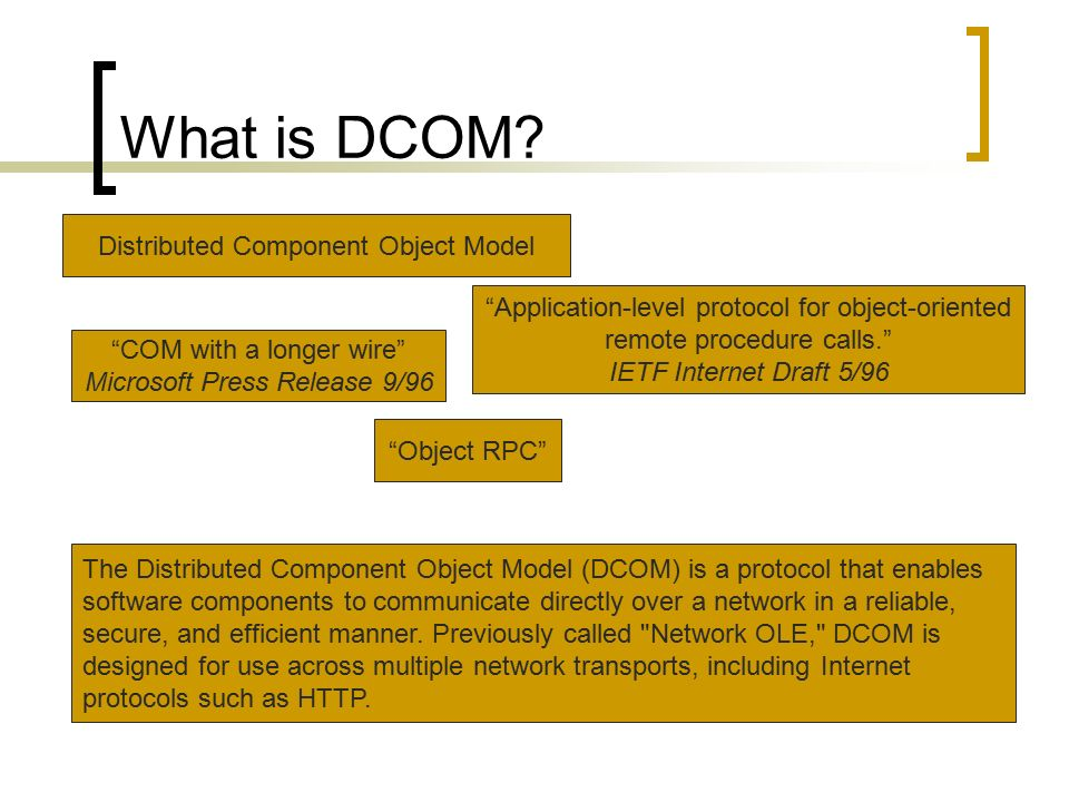 DCOM (Overview) by- Jeevan Varma Anga  - ppt video online