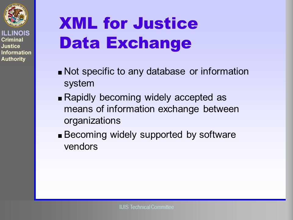 XML for Justice Data Exchange