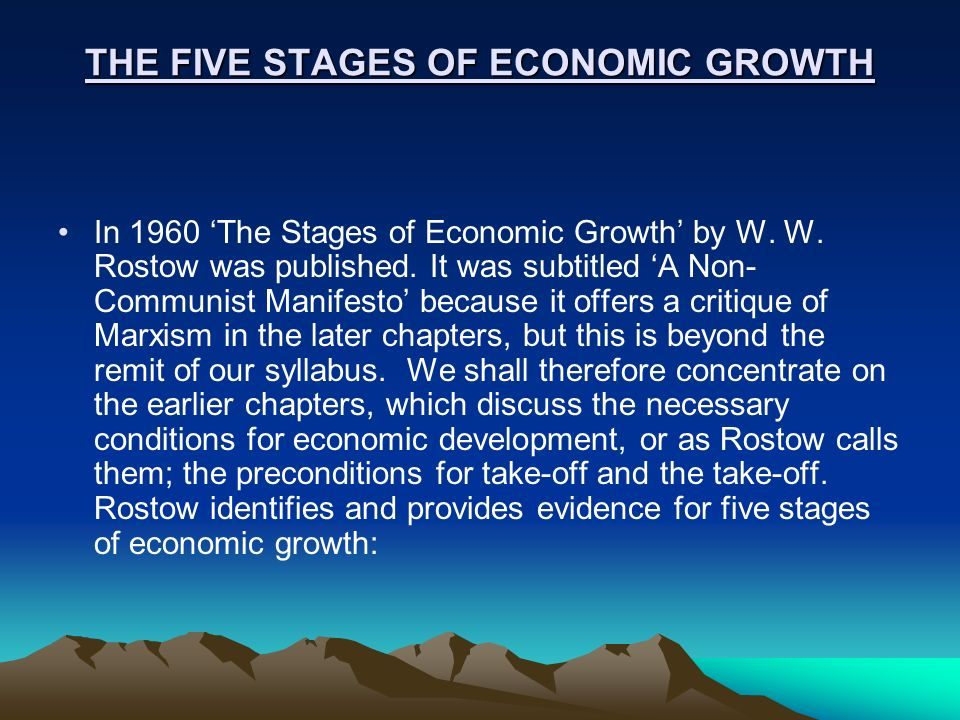 5 stages of economic growth