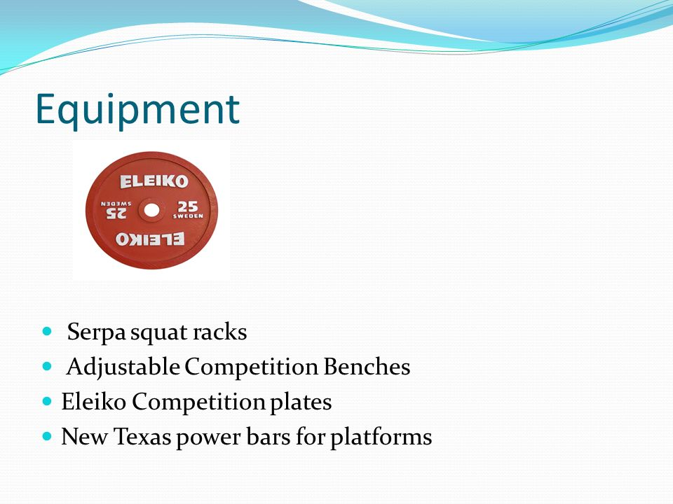 Equipment Serpa squat racks Adjustable Competition Benches