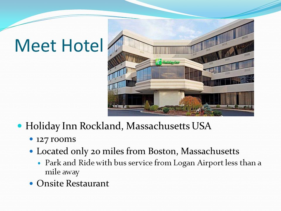 Meet Hotel Holiday Inn Rockland, Massachusetts USA 127 rooms