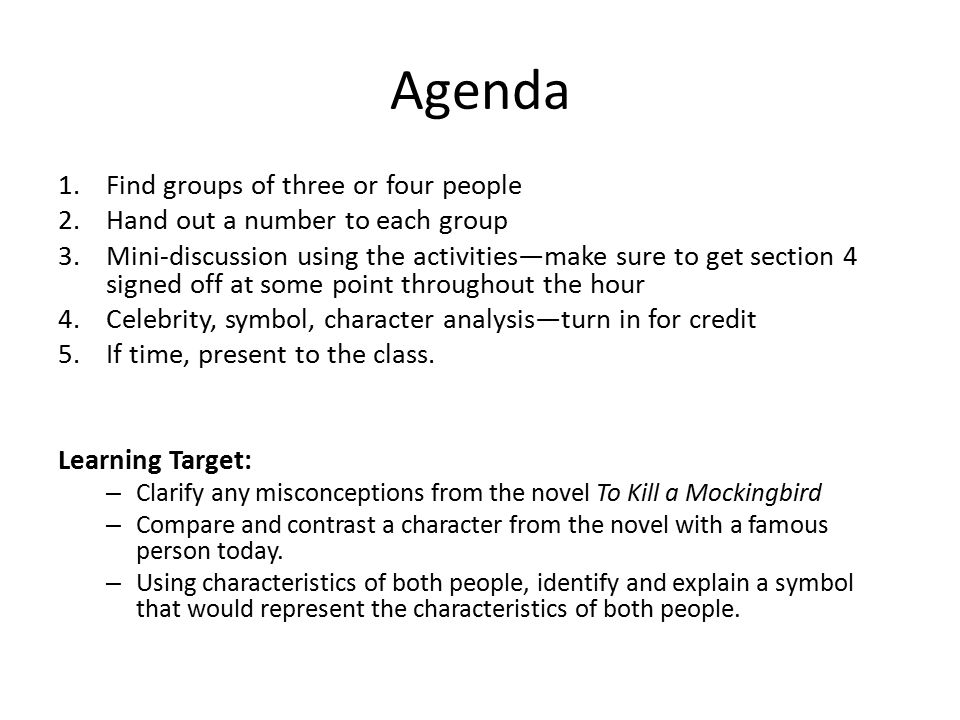 To Kill A Mockingbird Symbol Celebrity Analysis Ppt Download