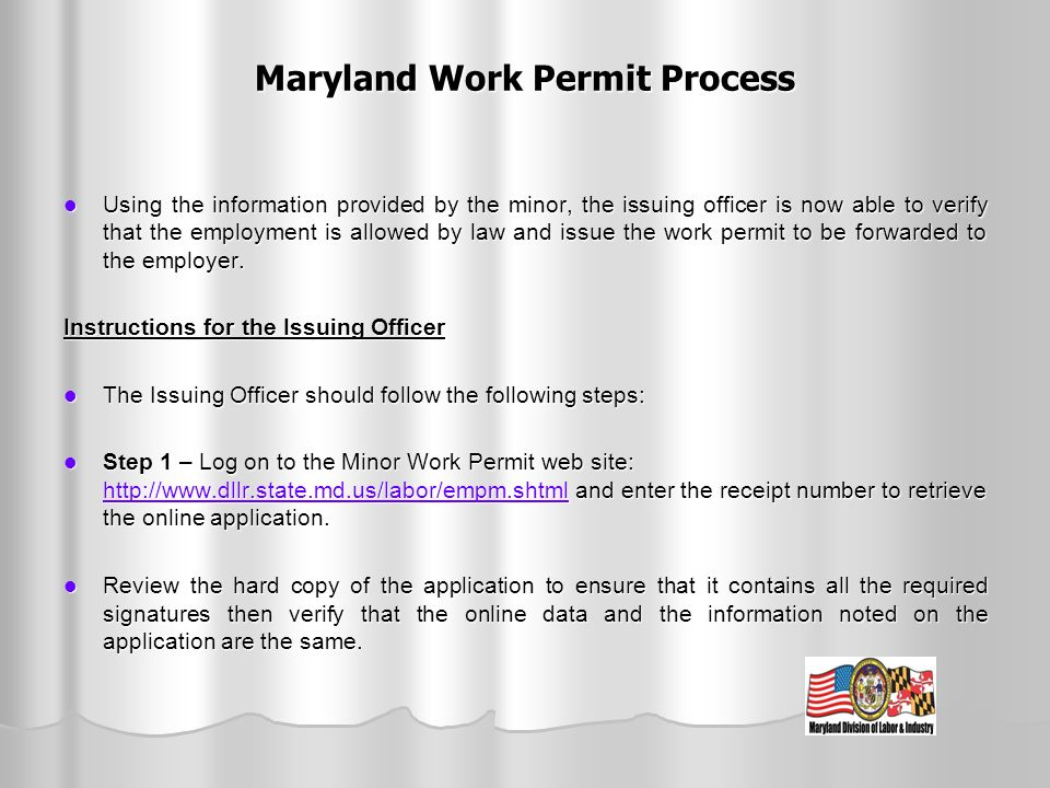Maryland Work Permit Process