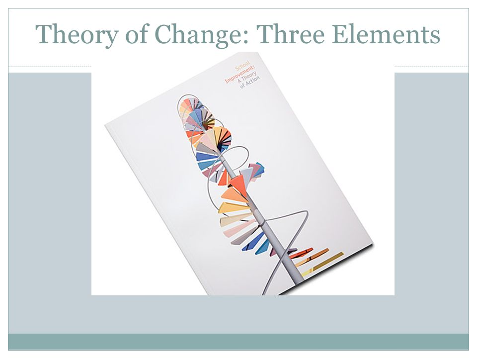 Theory of Change: Three Elements