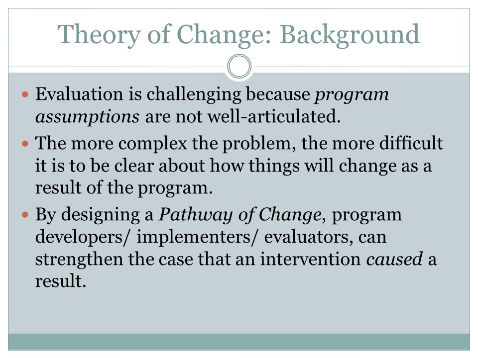 Theory of Change: Background
