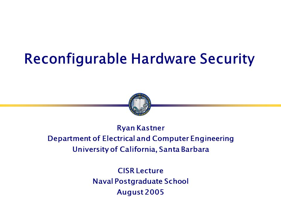 Reconfigurable Hardware Security