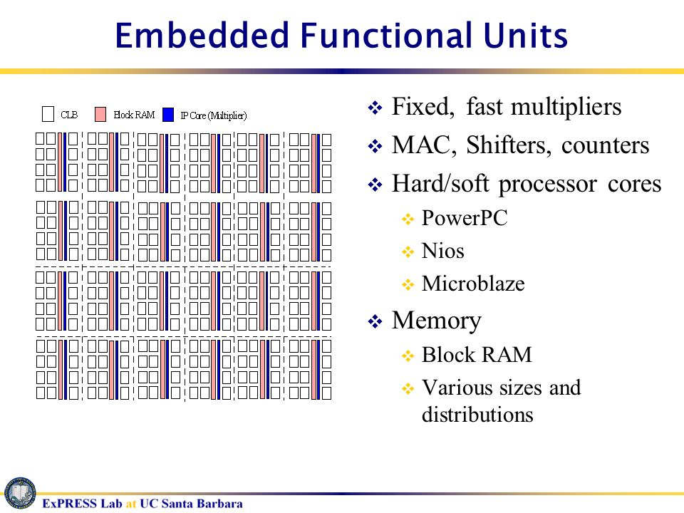 Embedded Functional Units