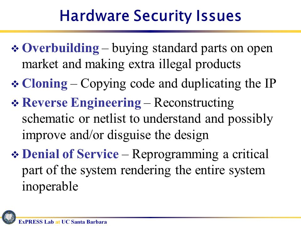 Hardware Security Issues