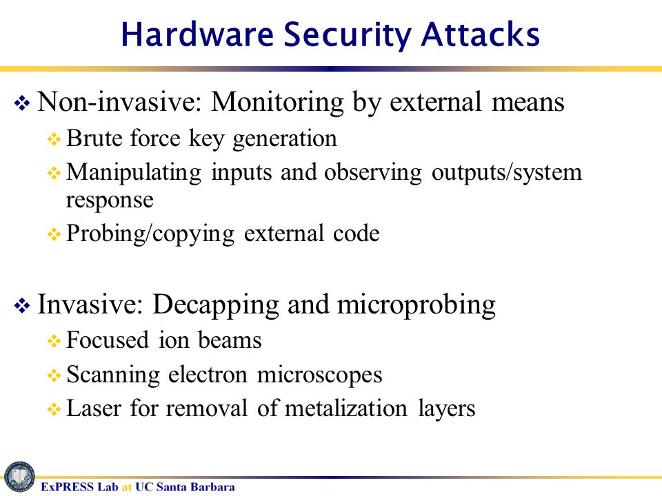 Hardware Security Attacks