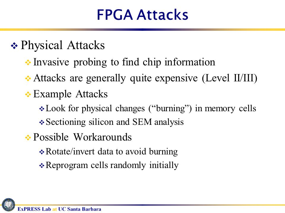 FPGA Attacks Physical Attacks