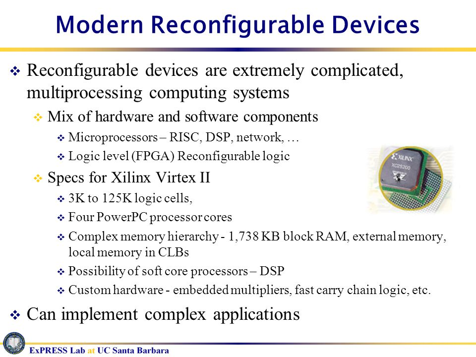 Modern Reconfigurable Devices