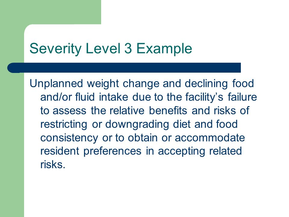 Severity Level 3 Example