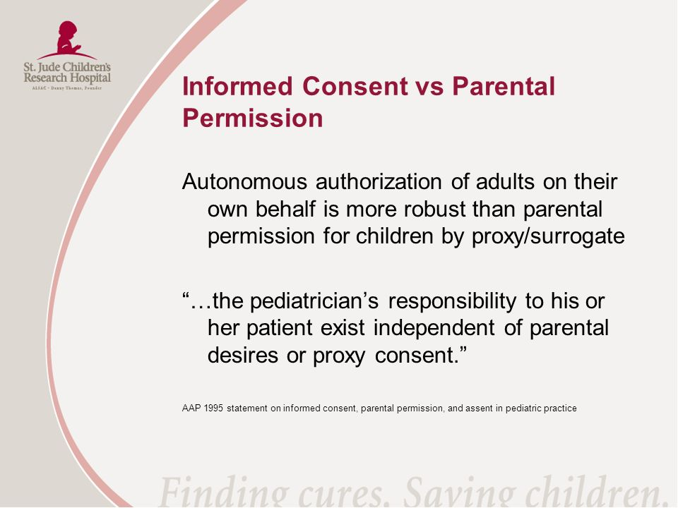 Informed Consent vs Parental Permission
