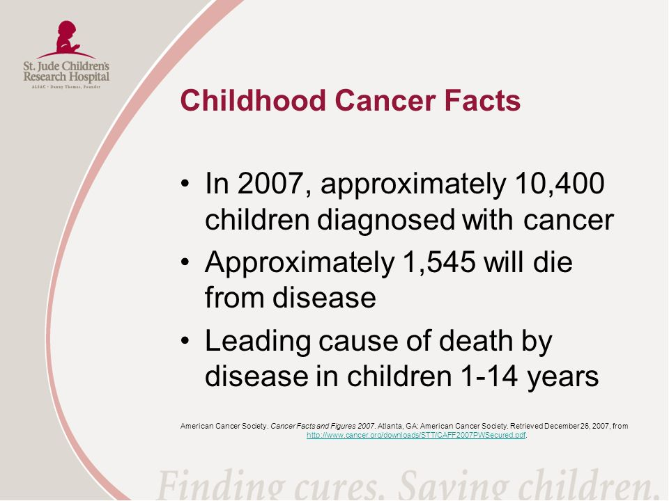 Childhood Cancer Facts