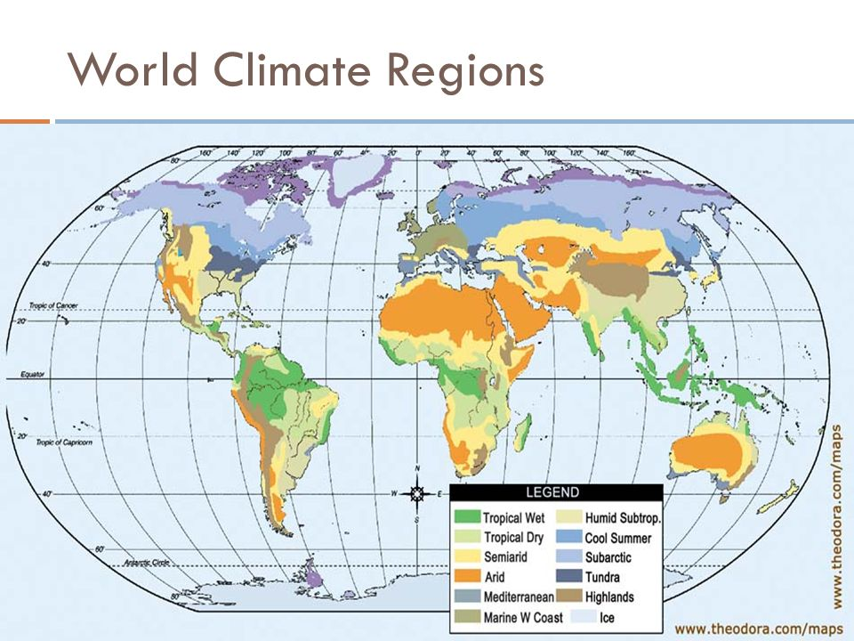 Elegant 3 World Climate Regions