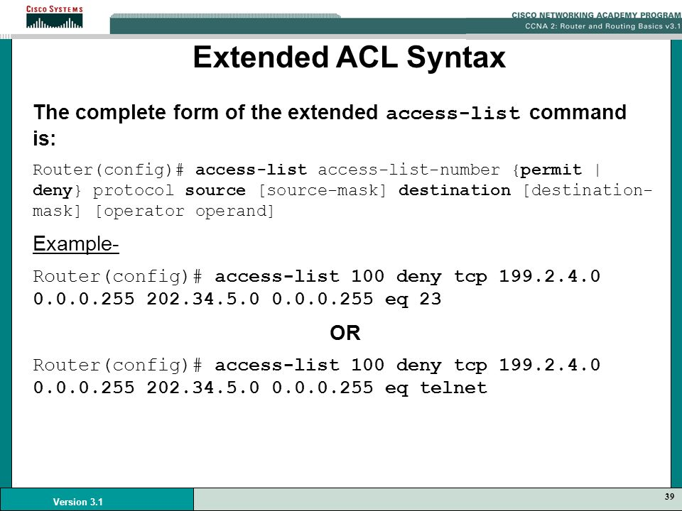 Access Control Lists Acls Ppt Video Online Download