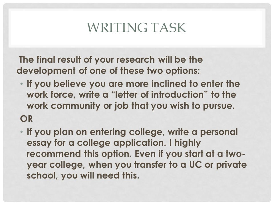 Whats Next Thinking Of Life After High School  Ppt Download  After High School  Writing
